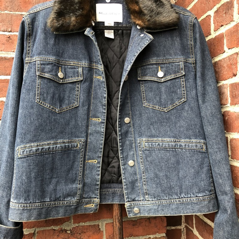 Telluride Denim Jacket, Blue, Size: Medium<br /> Faux Fur Collar is Removable