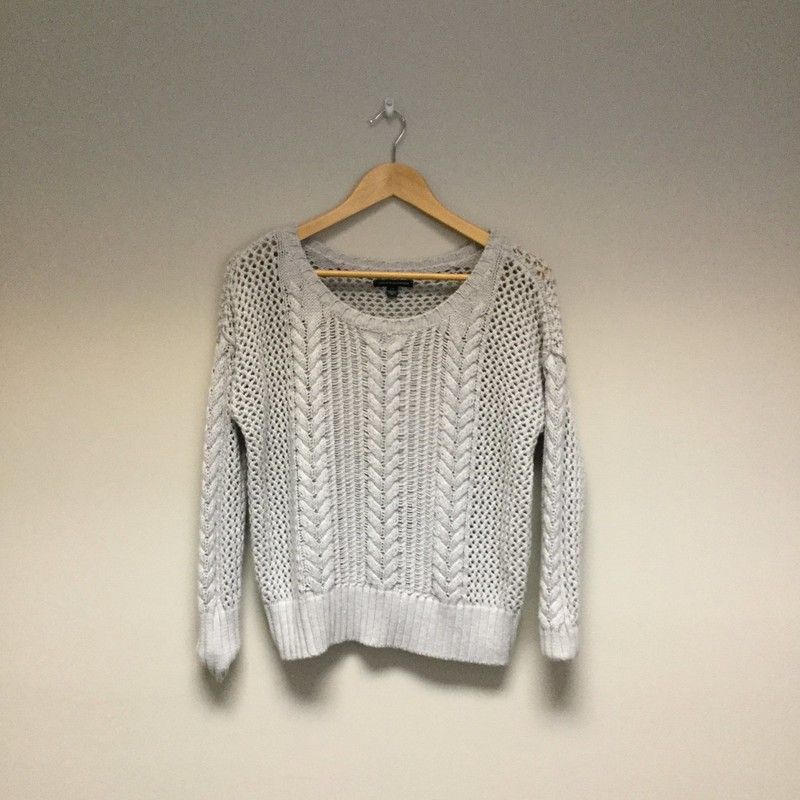 American Eagle Loose Cable Knit<br /> Size S<br /> Grey<br /> $11.50