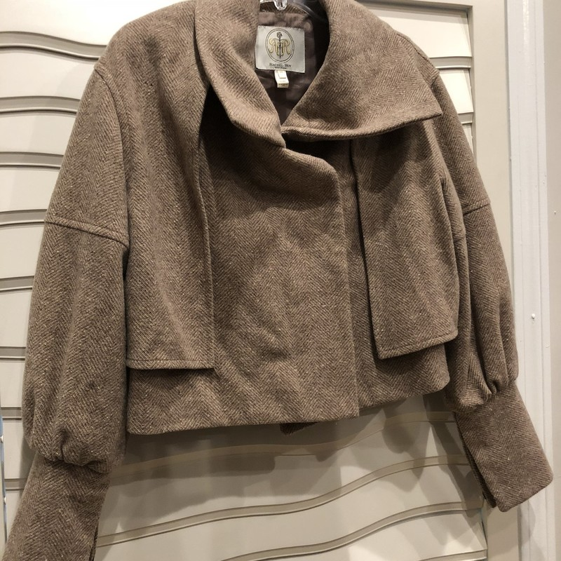 Rachel Roy Cropped Coat, Tan, Size: Medium<br /> Color is slightly pink. Tiny hole in the back, an easy repair worth doing. Price adjusted way down for this.
