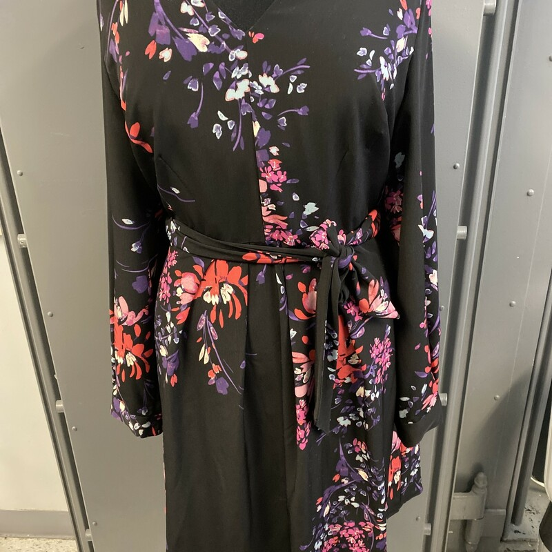 Ls Flower Prt Dress.