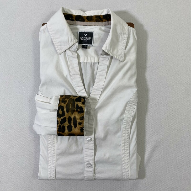 115-037 Express, White, Size: Small the essential shirt button down