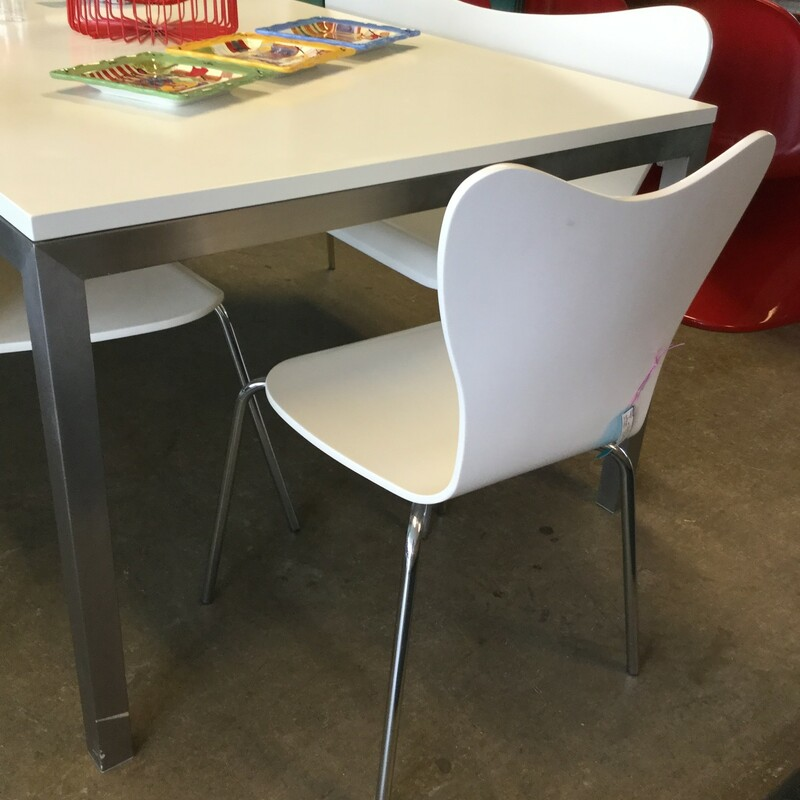 "West Elm Chairs, Set of 3, Size: 17""X17\""X33\"""