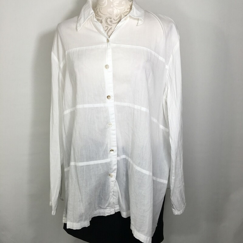 114-091 Solola, White, Size: 5 white long sleeved button-up shirt 100% cotton