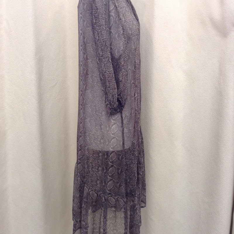 Caroline Sills<br /> Silk Snakeskin Print Dress<br /> Grey mix<br /> Size: 12