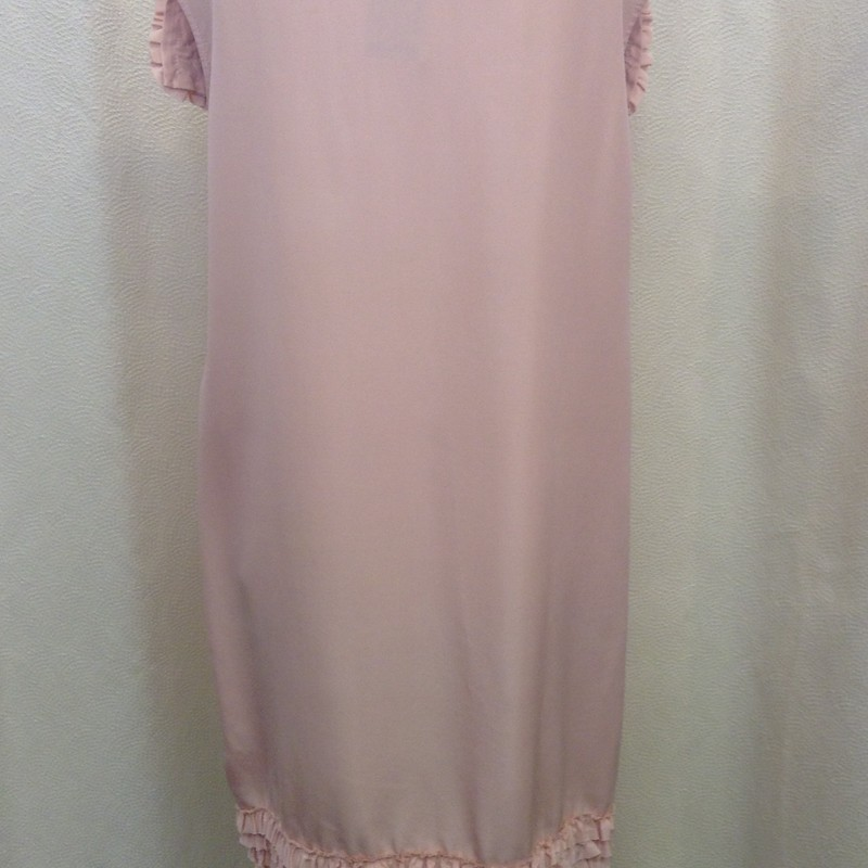 TRELISE COOPER<br /> Frill Trim Dress<br /> Dusty Pink<br /> Size: 12