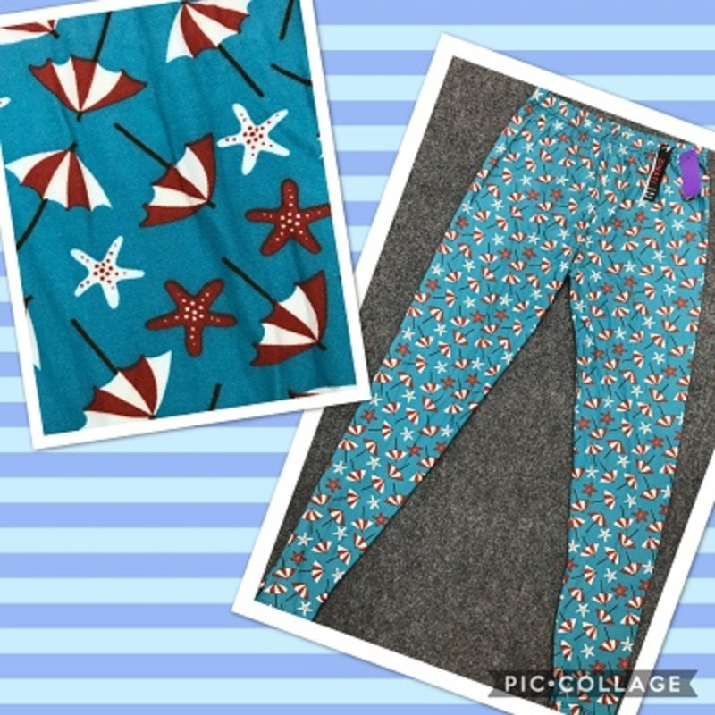 Get you a pair of our leggings and starfish leggings, theyy are super cute and will look good with your favorite top. The material is made of 92% Polyester 8% spandex with an inseam of 29in.