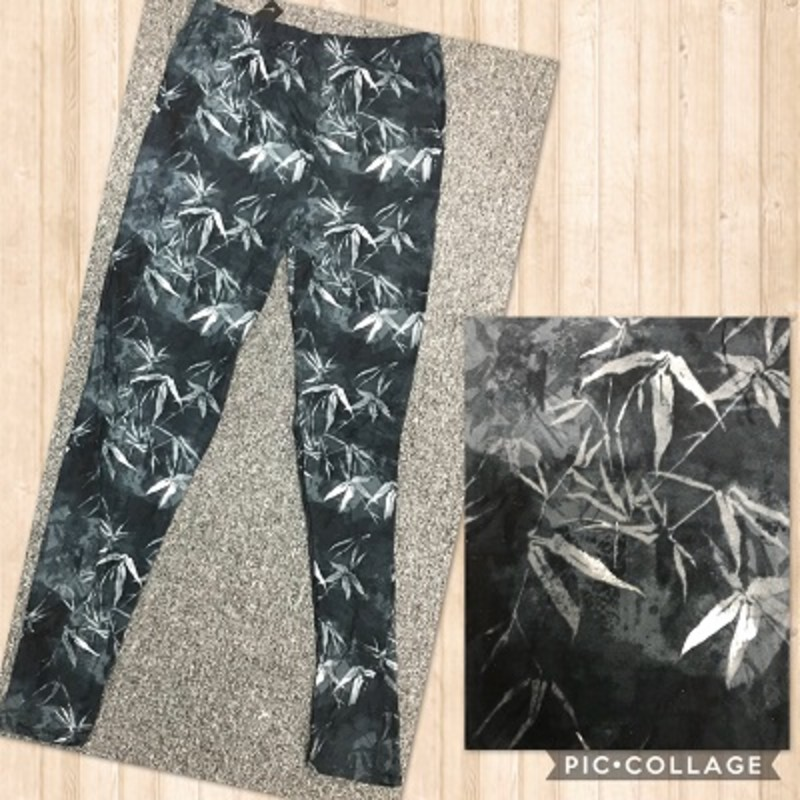 We only have a couple of our white Leaf Print Leggings left so hurry and get yours quick. The material is made of 92% Polyester 8% Spandex with an inseam of 29in.