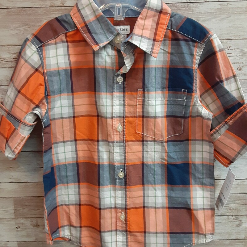 Carters NWT Plaid Shirt.
