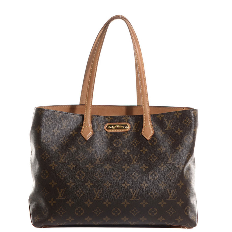 Louis Vuitton Wilshire MM, Brown, Size: .LV<br /> Very good condition. Some water spots on leather.