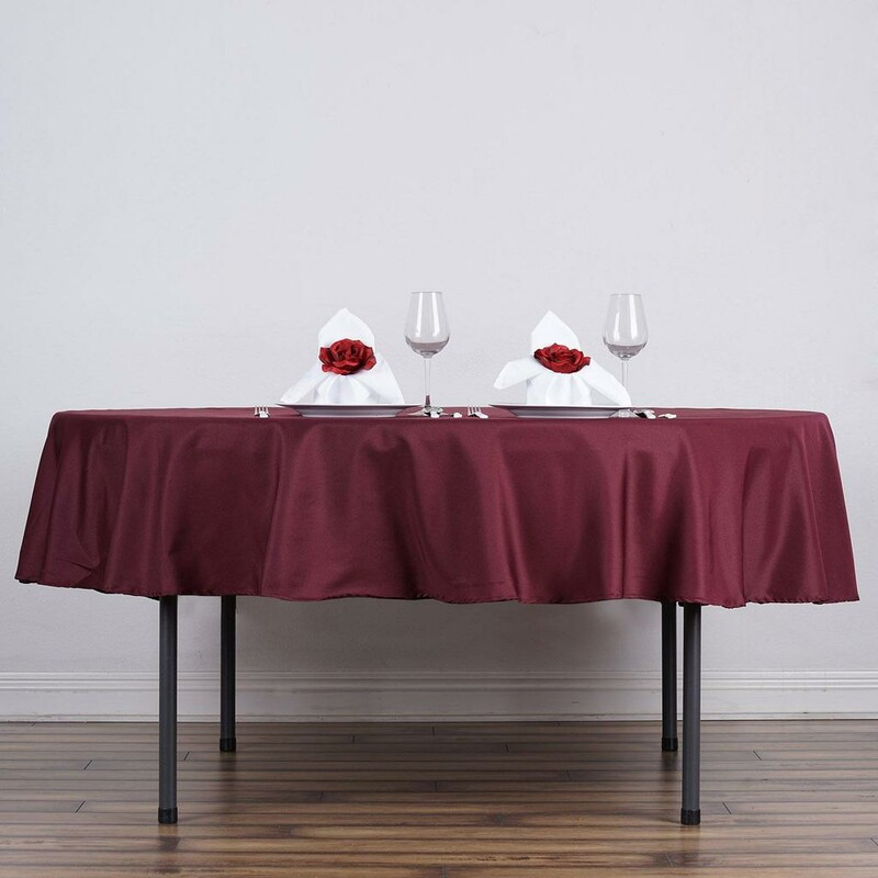 "90"" Poly Tablecloths."