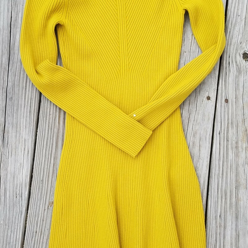 "Theory Long Sleeve<br /> Directional ribbing draws the eye to this subtly shaped sweater-dress knit from fine a merino wool-blend in a bright citrus hue.<br /> Style Name: Theory Regal Moving Ribbed Long Sleeve Merino Wool Blend Sweater Dress<br /> Inseam of Sleeve 30""<br /> retail $465<br /> they are<br /> SOLD OUT"