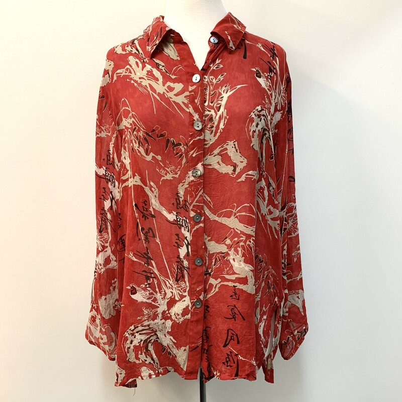 Chicos Silk Tunic Blouse.