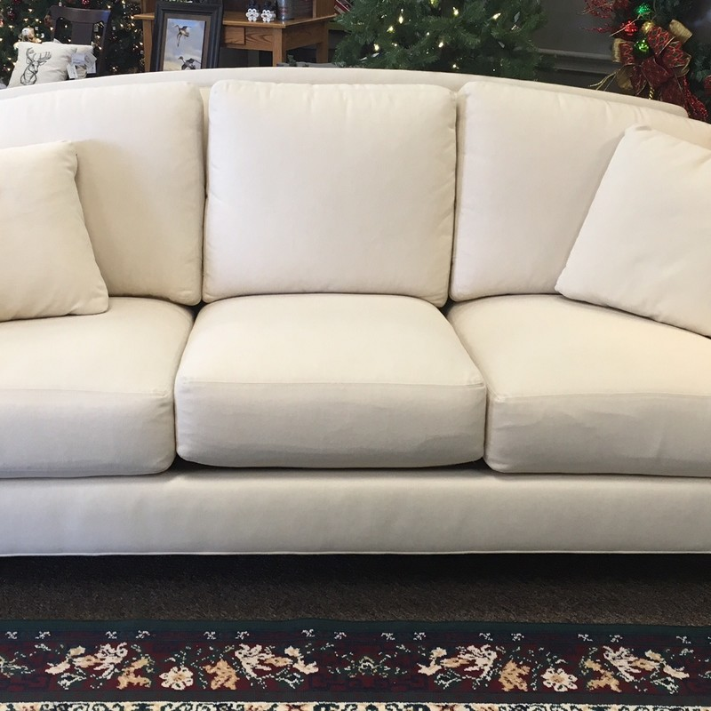 2014 Ethan Allen White Fabric Couch - like new condition!