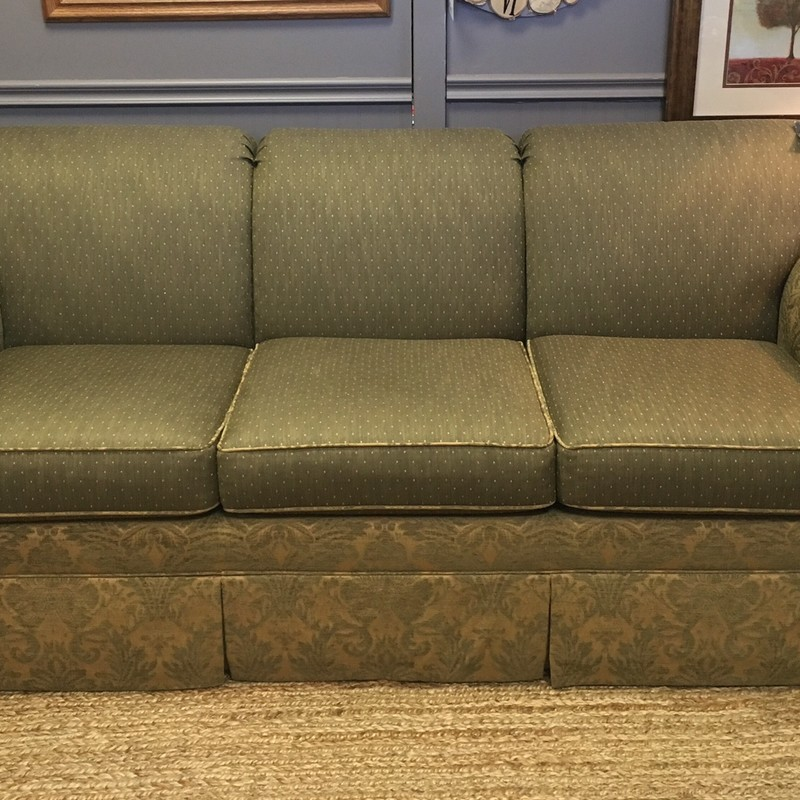 Beautiful muted green Ethan Allen sofa in excellent condition.