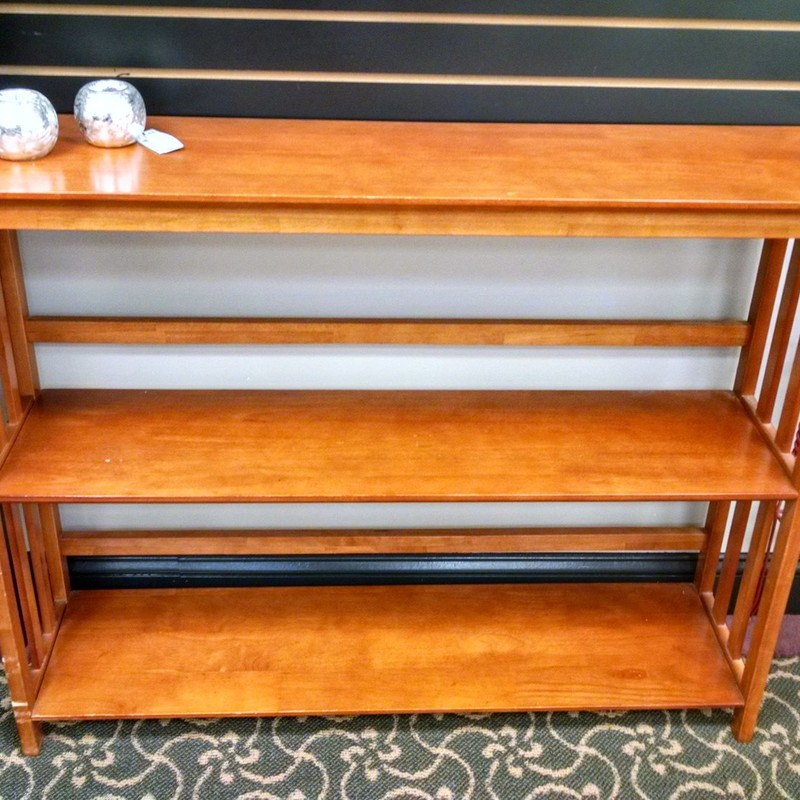 Narrow Bookcase, Maple, Size: None