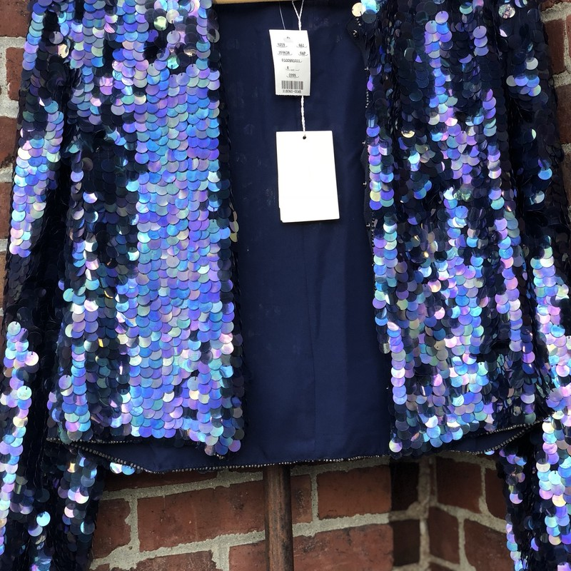 Armani Collezioni NWT, Blue, Size: 8<br /> Spectacular sequin jacket new with $1695