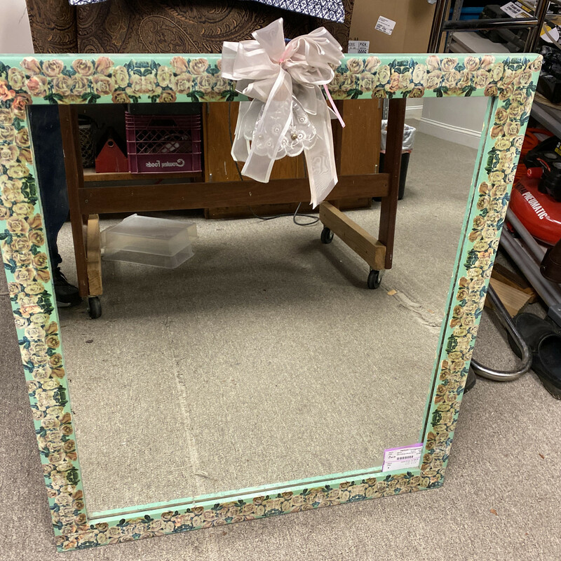 Decoupage Wood Mirror.