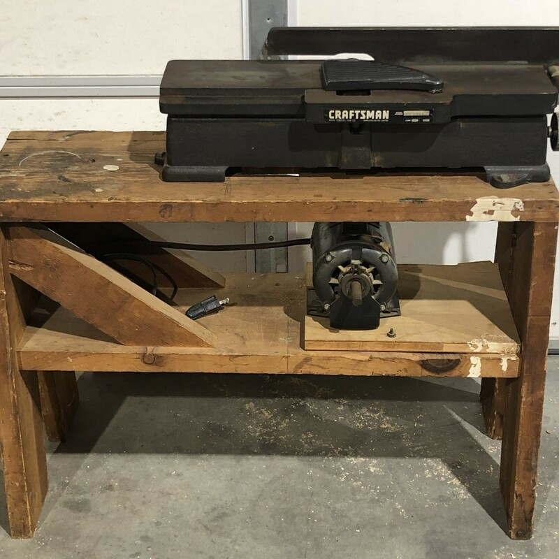 "Craftsman 113.21862 4-1/8"" Jointer with 1/2-HP Motor"