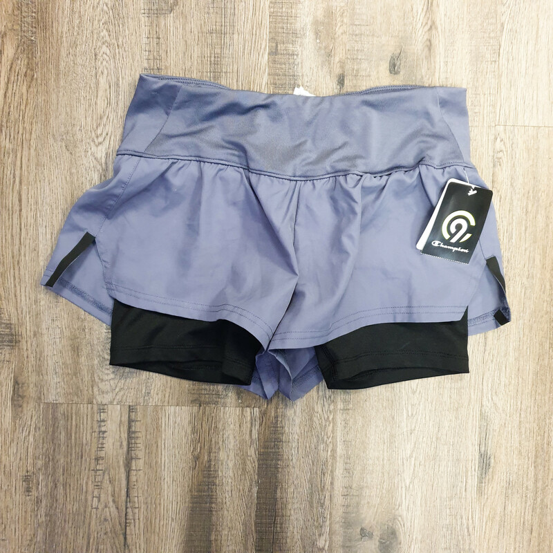Beautiful Champion Shorts.<br /> - Brand new<br /> - Gray color<br /> - Back inner shorts<br /> - Inner pocket<br /> - Stretchy<br /> - Waist circumference: 26 in.<br /> - Length: 11.5 in.<br /> - Size XSmall<br /> <br /> * Please note that these measurements and pictures are for reference only and may vary slightly from the original.