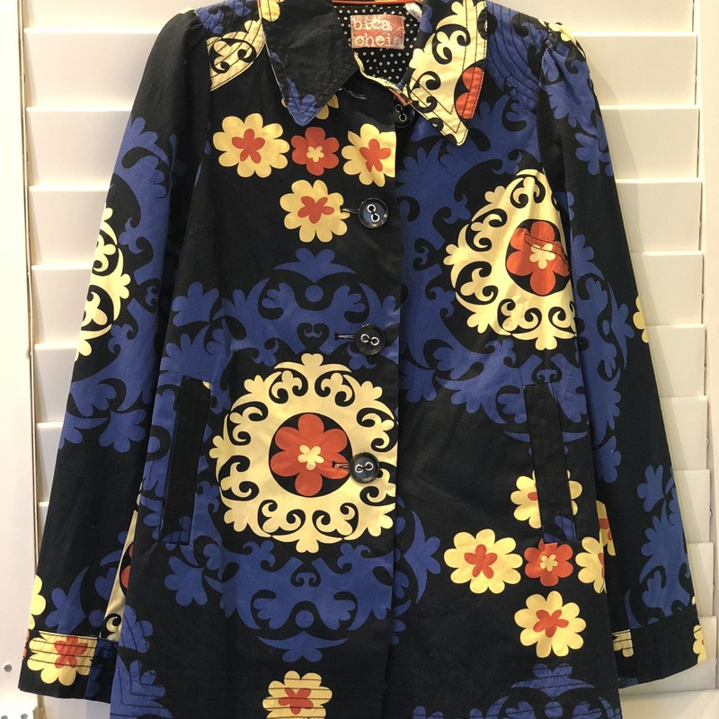 Anthropologie Jacket, Blue, Size: 6<br /> like new Chica Beaua jacket with pockets. A real statement jacket!