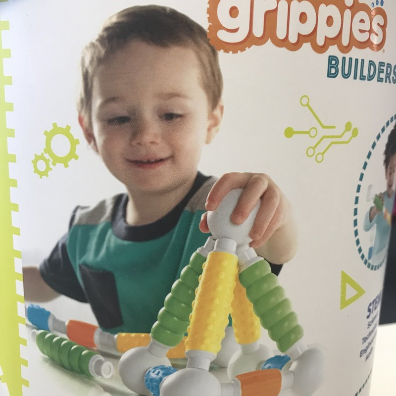 Grippies in container w/lid,  28 Pcs,  excellent condition.  These are magnetic soft touch blocks and balls.  Great for sensory play and integration. Set of 30 retails new for $40