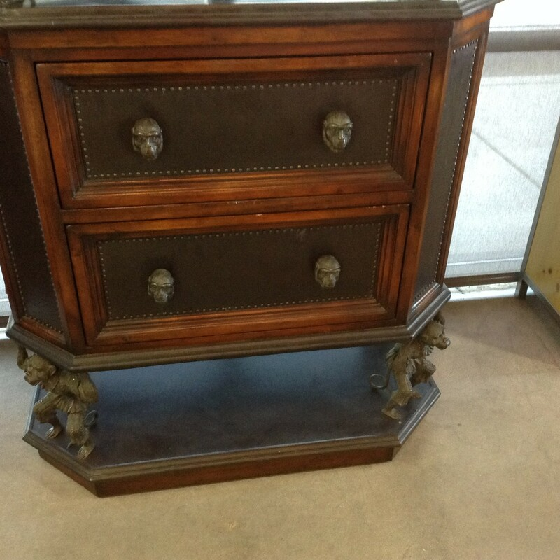 "Monkey Chest Of Drawers, Wood, 6 Drawers<br /> 36"" wide x 22' deep x 76\"" tall"