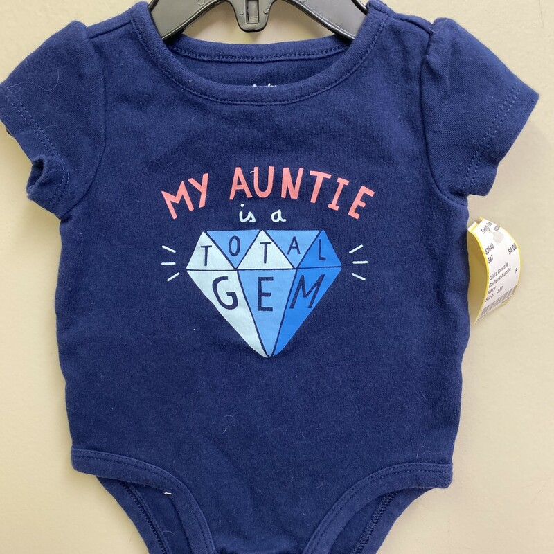 Carters Auntie, Navy, Size: 3M