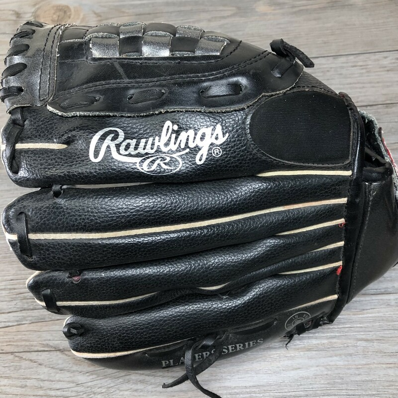 Rawlings Baseball Glove, Black, Size: Youth<br /> Left hand catcher.