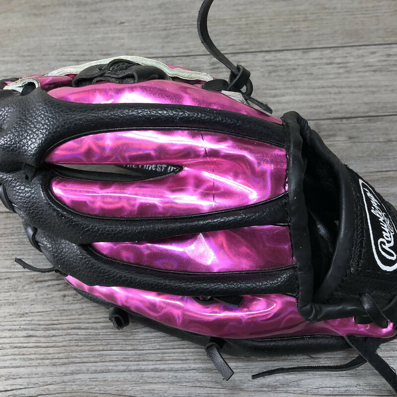 Rawlings Baseball Glove, Pink, Size: Youth<br /> Left handed glove.