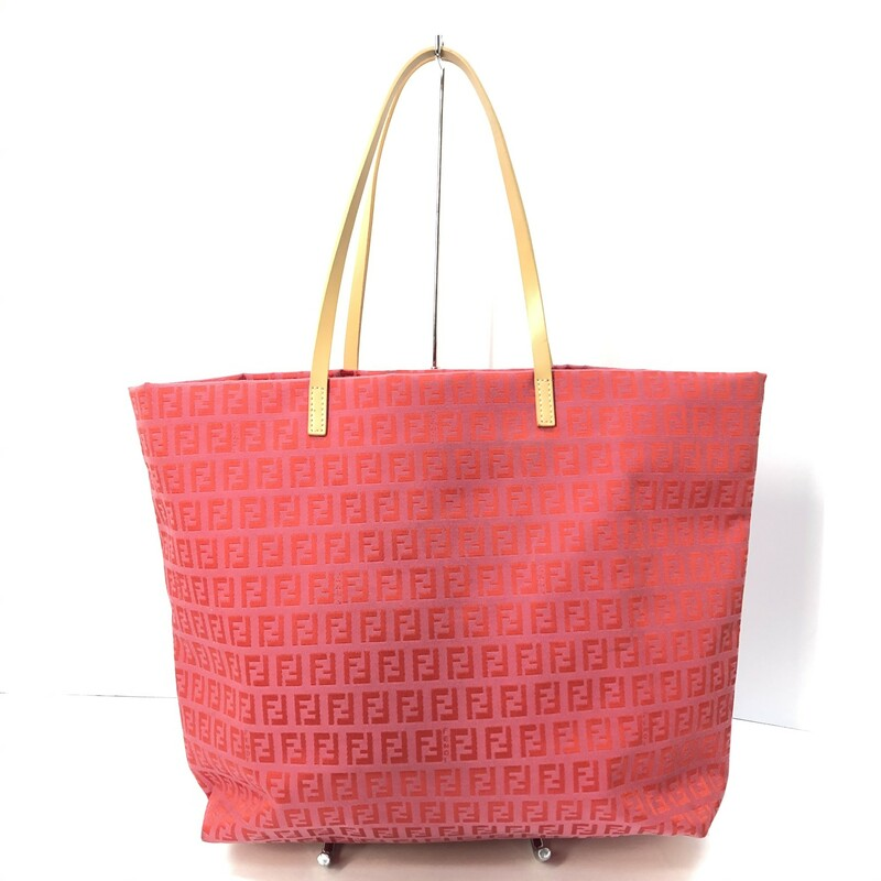 Fendi Pink Canvas Tote.