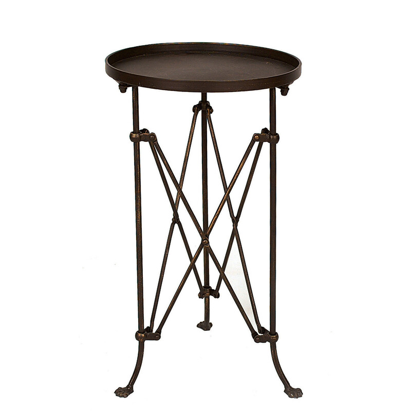 Round Metal Table.