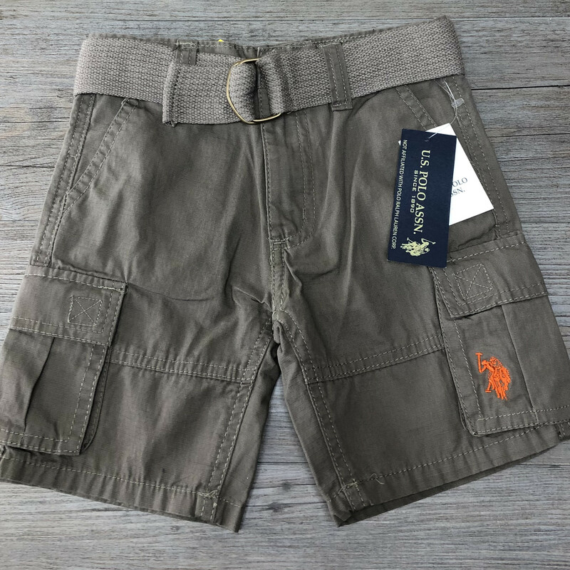 US Polo Shorts, Brown, Size: 3Years old<br /> New with tag<br /> Adjustable waist<br /> Belt included