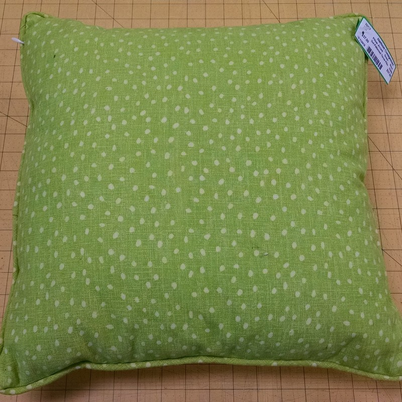 Dot Patterned Throw Pillo, Green, Size: None