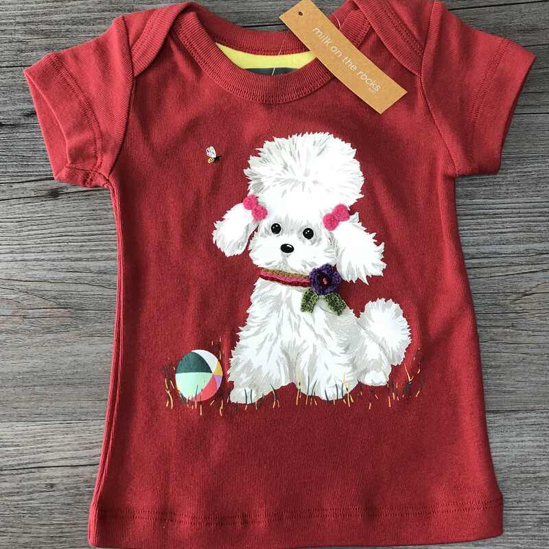 Milk On The Rocks Shirt, Red, Size: 12M<br /> New