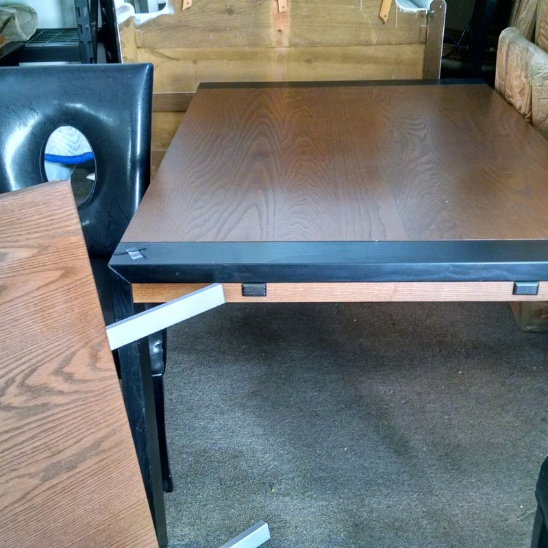 Slide End Dining Table, Brown, Size: None<br /> 40w x 60L (90L with 2 -  15&quot; ends add on)<br /> 30H