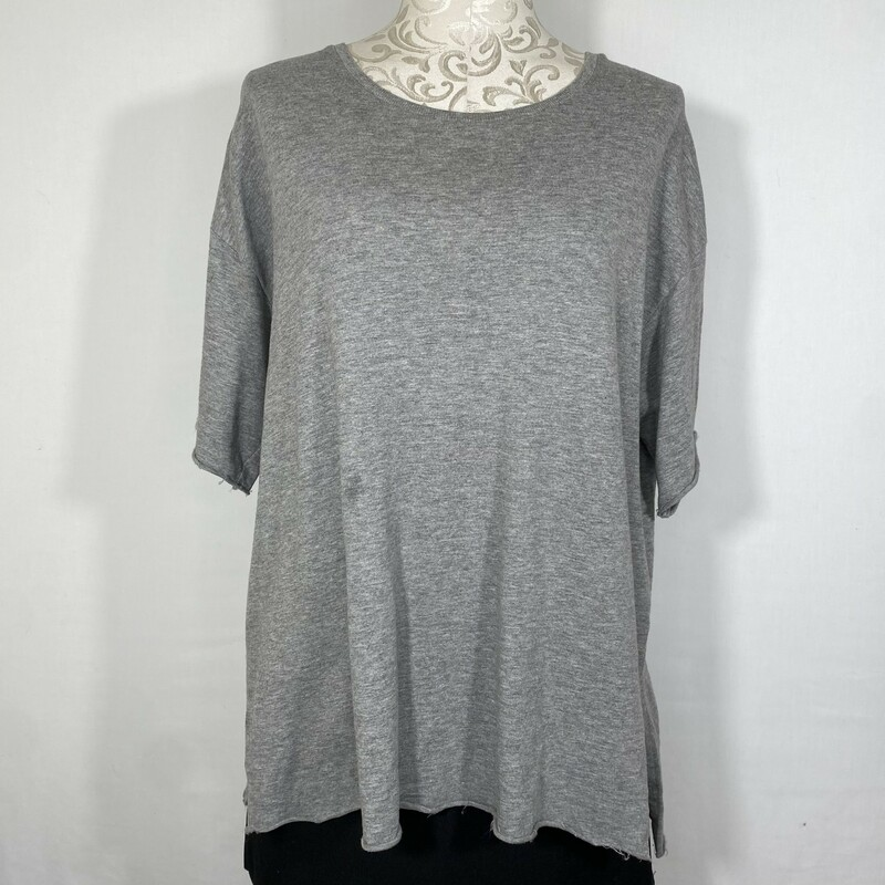 Pull&bear Short Sleeve Kn, Gray, Size: Medium