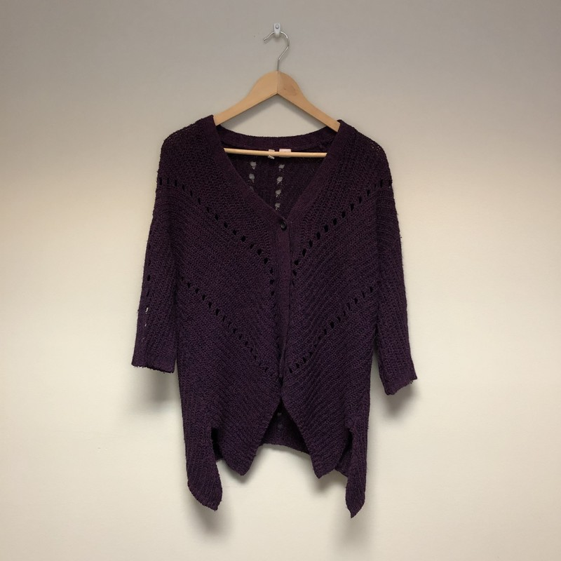 Moth Knit Cardigan Sweater<br /> Size S<br /> Wine/Black<br /> $16.50
