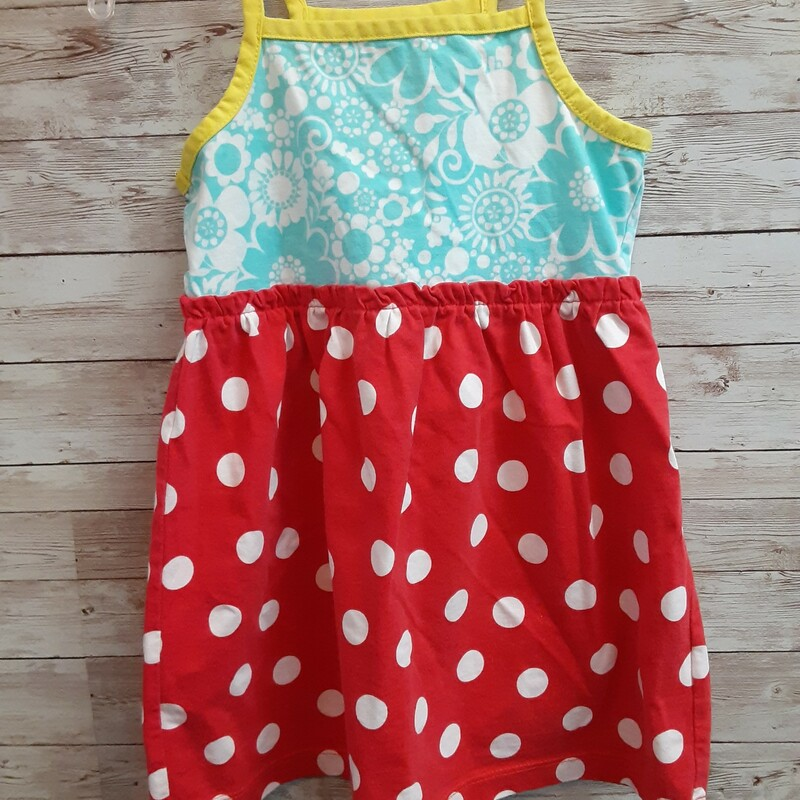 Hanna Andersson Dress, Blue/red, Size: 2T Girls