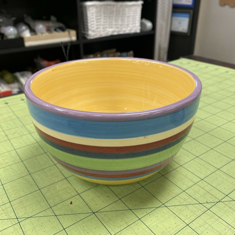 Striped Bowl.