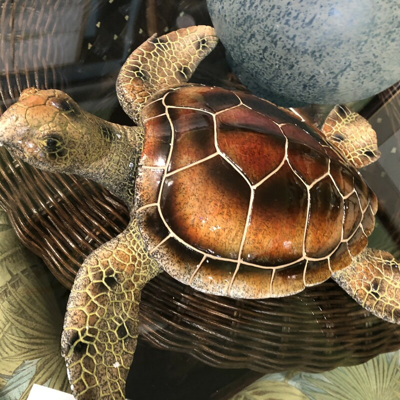 Turtle Tortoise Shell Color Wall or Tabletop Display Decor, New, Size: 13""