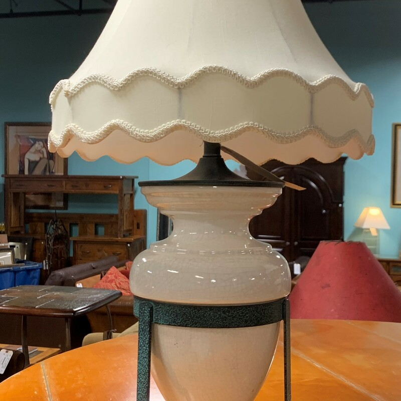 Ceramic Lamp On Stand.