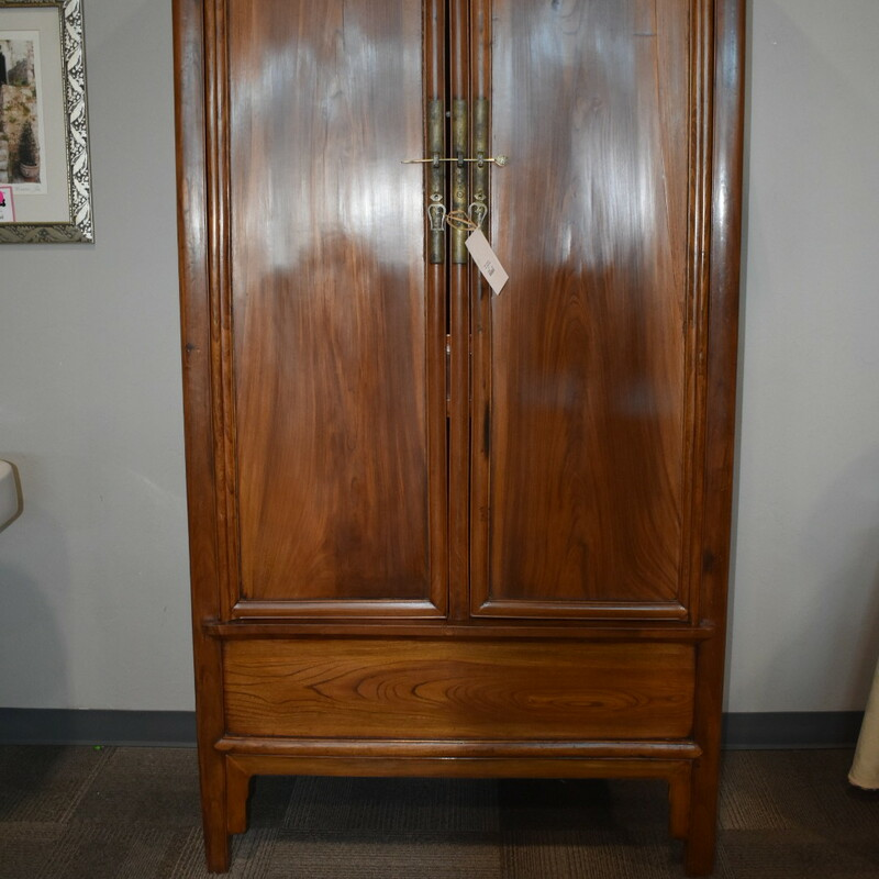 Brown Armoire.