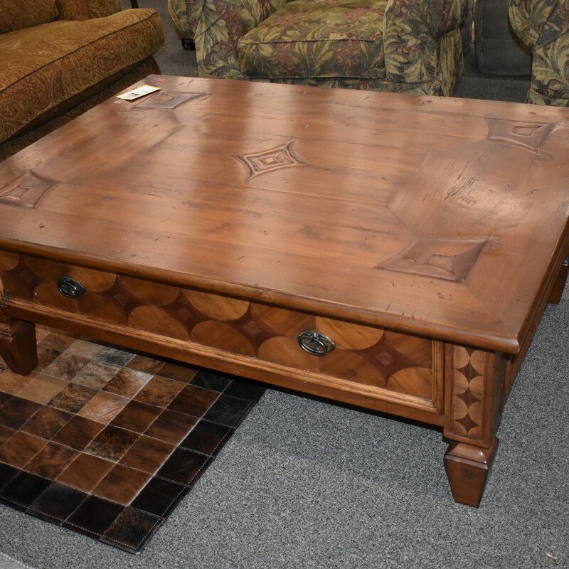 Lg Wood Coffee Table.