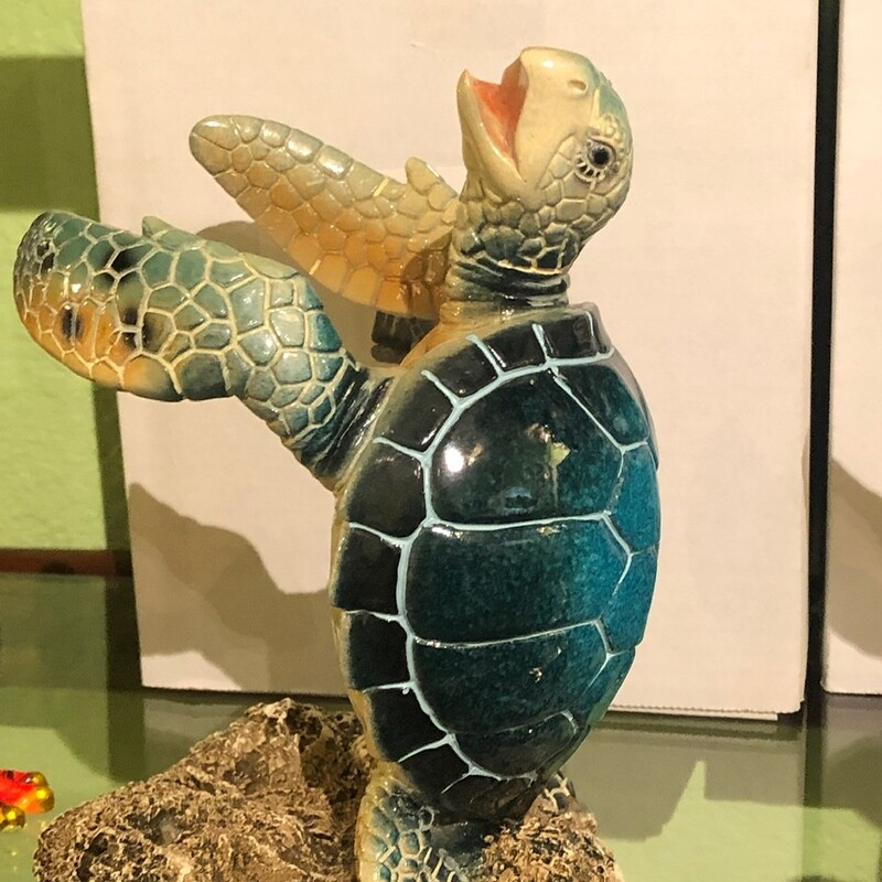 Blue Turtle Bottleholder.