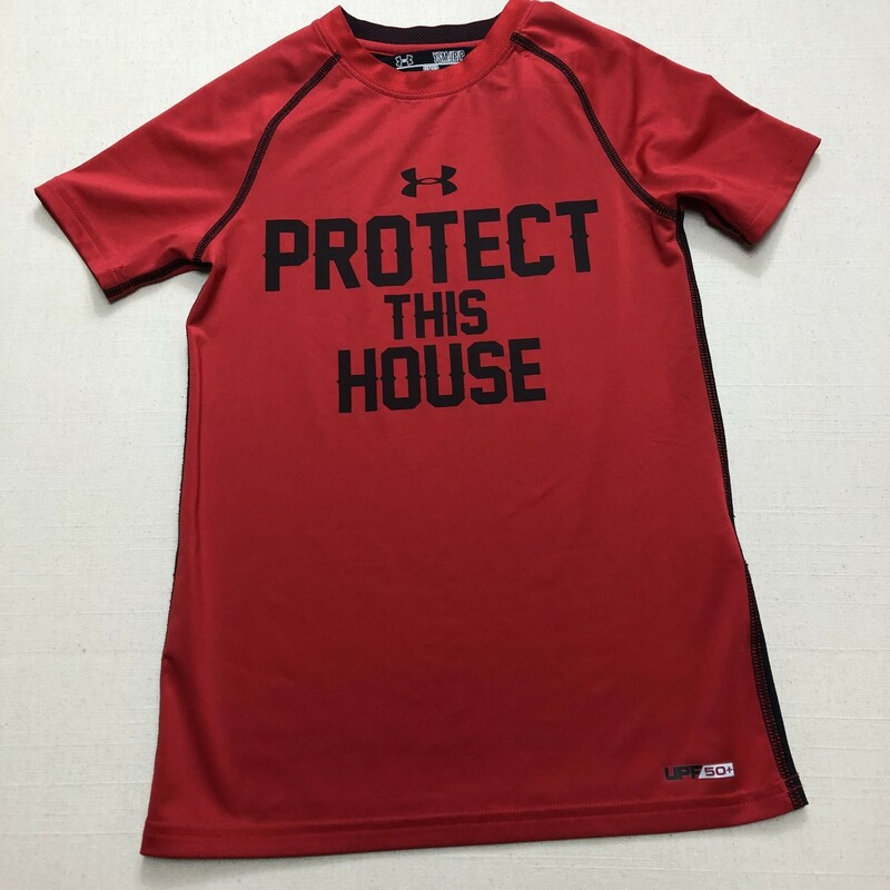 Under Armour Shirt, Red, Size: 6-7Y