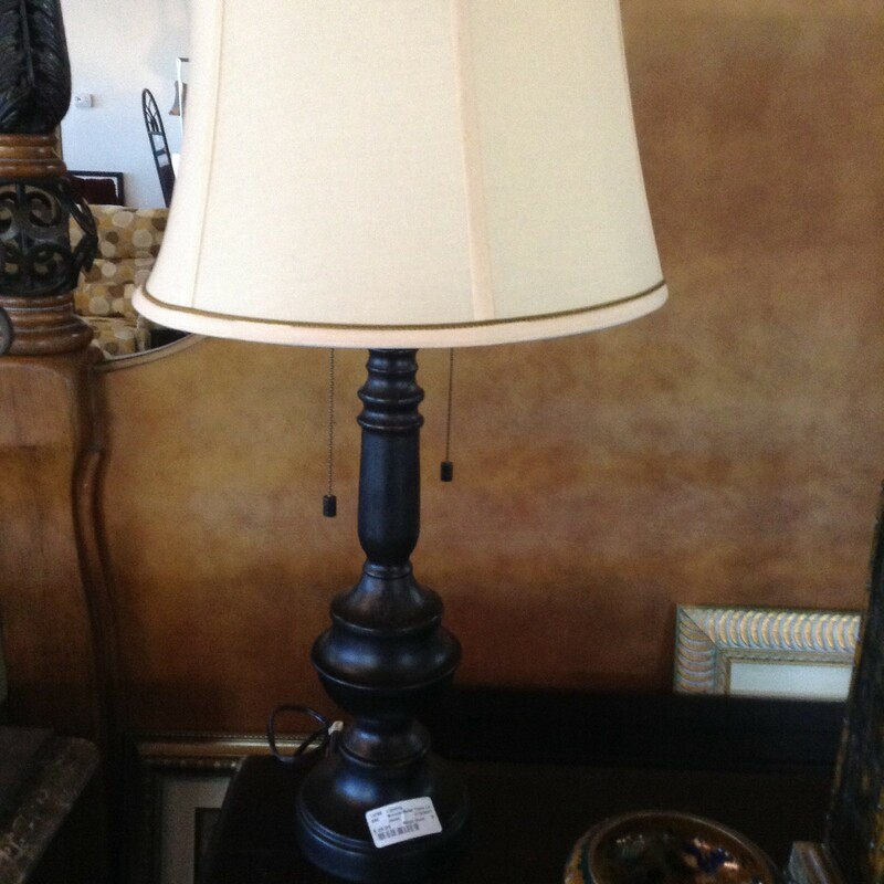 Bronze/Metal Table Lamp.
