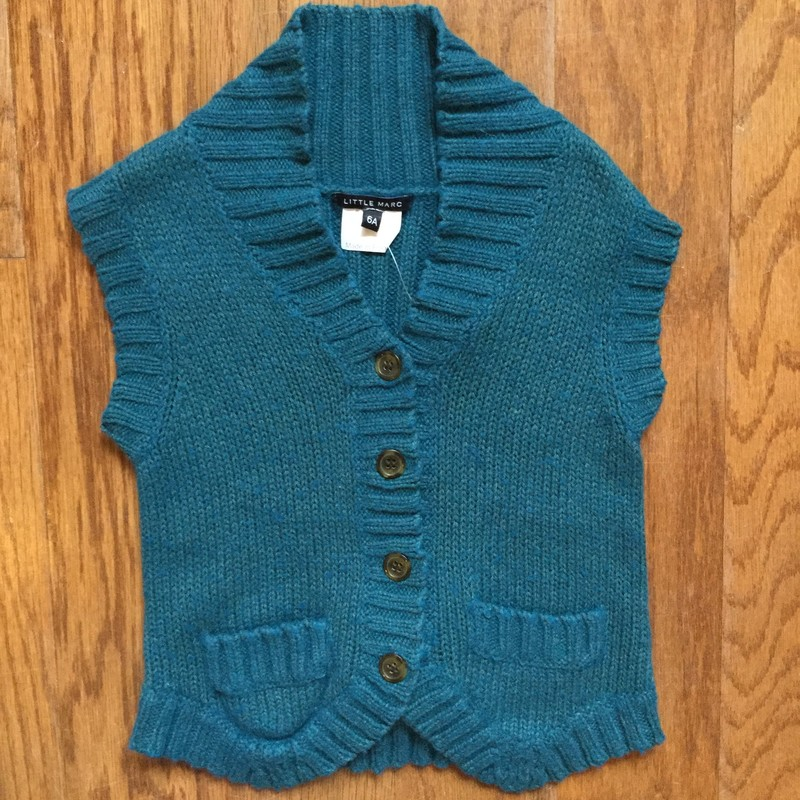 Little Marc Crop Vest, tagged 6A but runs small