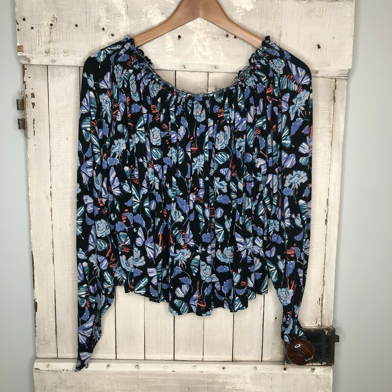 Top Free People, Floral, Size: Medium