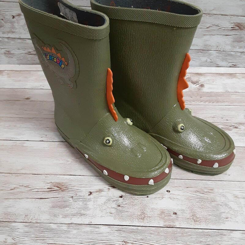 Kidorable Dino Rainboots.