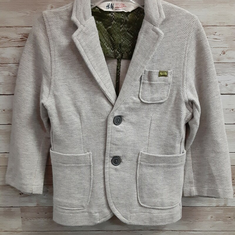 H&M Knit Blazer, Grey, Size: 2T Boys